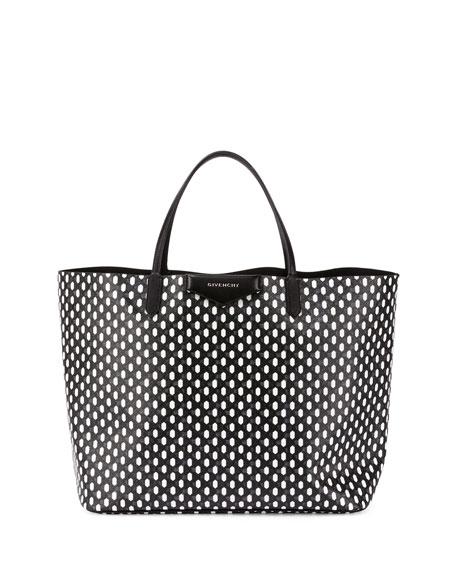 Givenchy Antigona Large Diamond-Print Shopper Bag