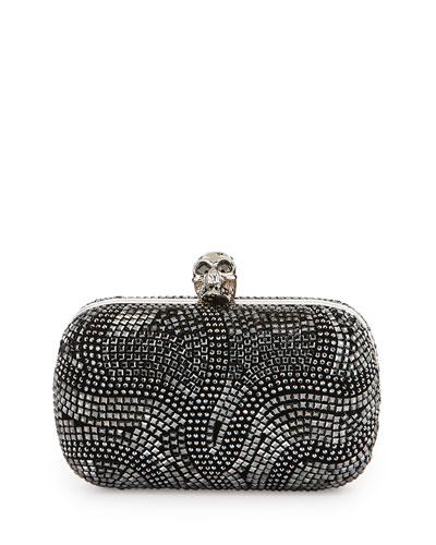 Classic Art Deco Crystal Skull Clutch Bag