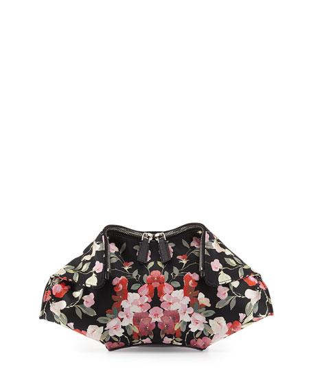 De-Manta Small Floral-Print Clutch Bag, Black Multi