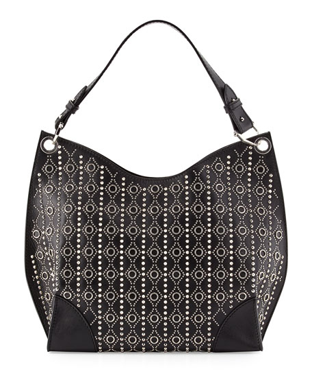 Alexander McQueen Small Studded Legend Hobo Bag, Black
