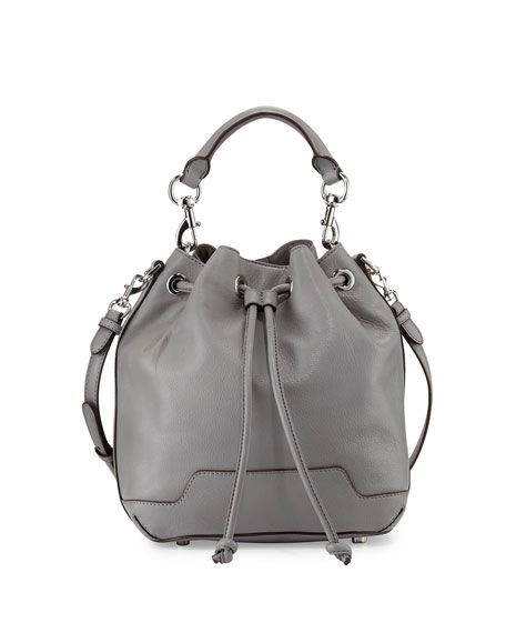 ddc6a46cc Rebecca Minkoff Fiona Leather Bucket Bag, Charcoal/Silver