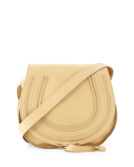 Chloe Marcie Medium Leather Crossbody Bag, Eggshell