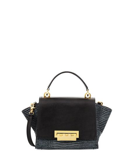 Eartha Mini Crossbody Leather Bag, Black