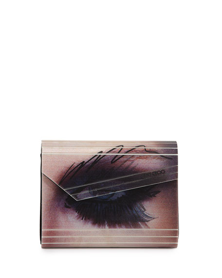 Jimmy Choo Candy Winking Eye Clutch Bag, Multi