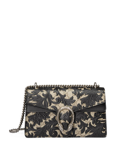 Dionysus Arabesque Medium Shoulder Bag, Black
