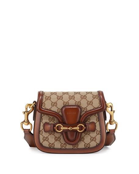 Gucci Lady Web Small GG Canvas Shoulder Bag,