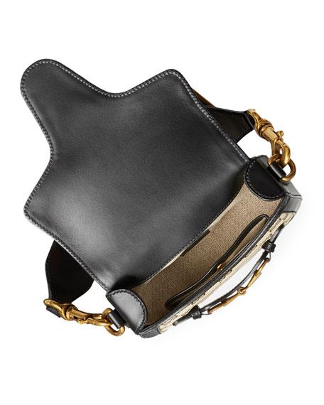 Lady Web Small GG Canvas Shoulder Bag, Black
