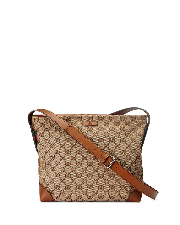 27a0b0ea366 Gucci Original GG Canvas Messenger Bag