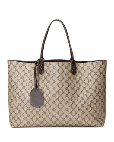 Reversible Large GG Tote Bag, Brown