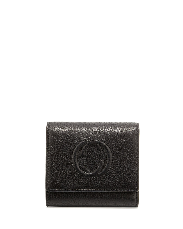 1f44d7bac52 Gucci Soho Leather Flap Wallet