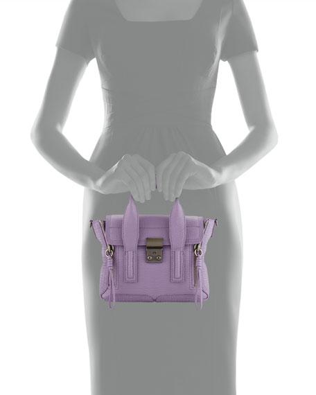 Pashli Mini Leather Satchel Bag, Violet