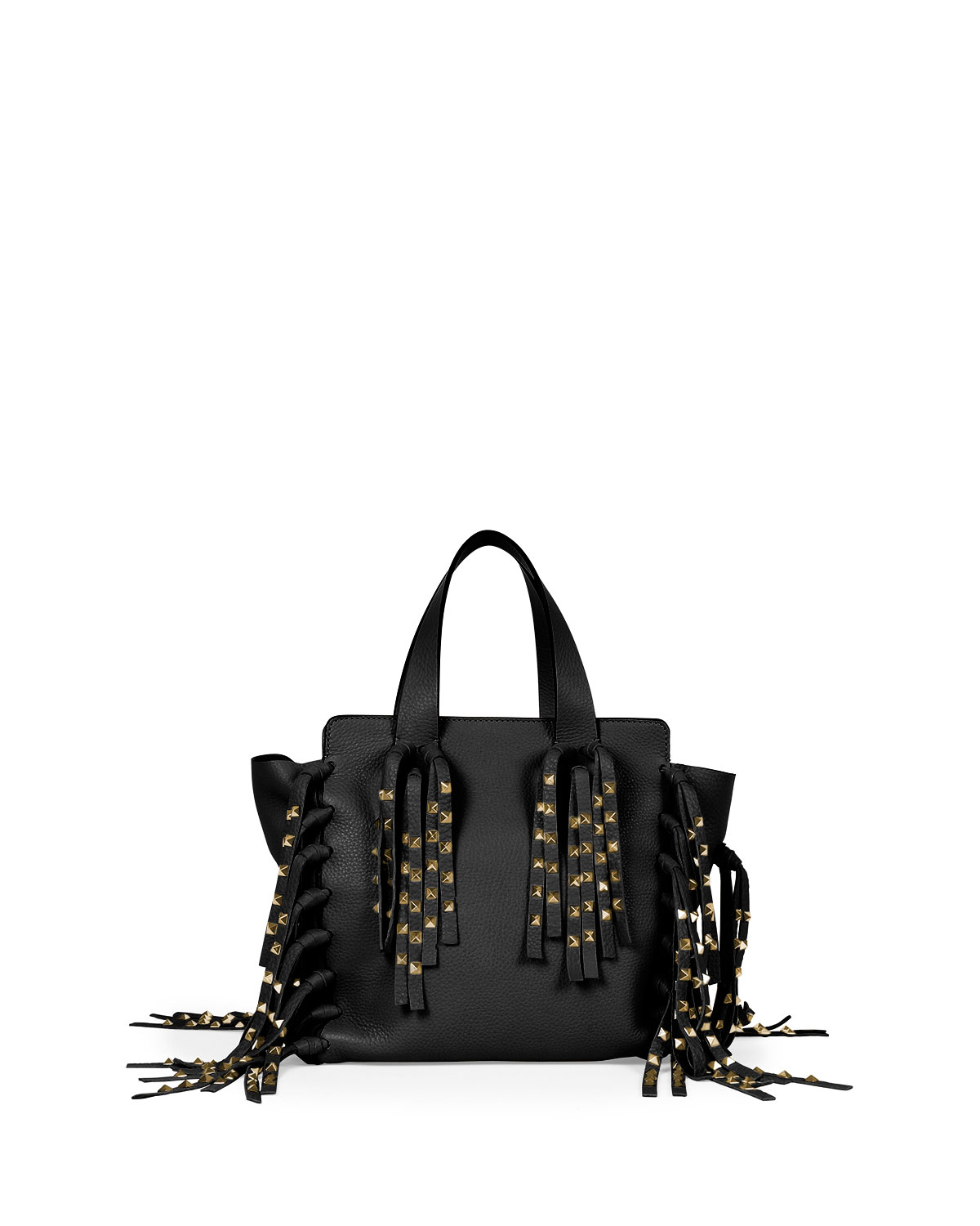 Valentino C-rockee Fringe Tote Studded Leather Micro gfTI82TD98