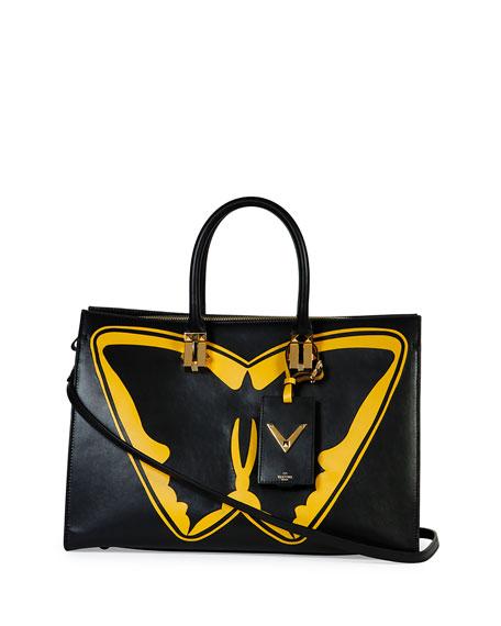 Superhero Batman Tote Bag, Black/Yellow