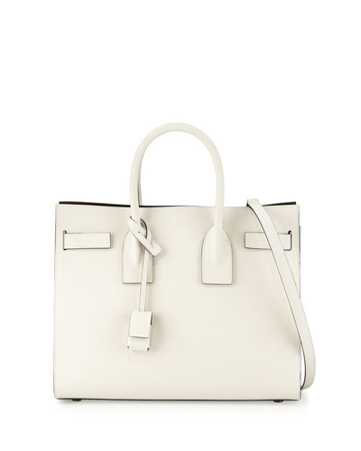 Sac de Jour Small Bicolor Carryall Bag, White/Black