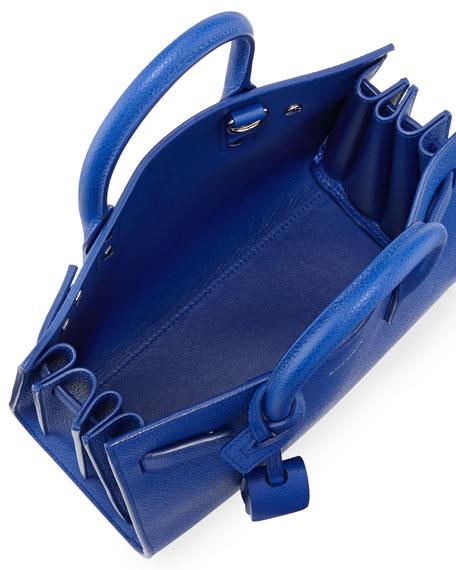 Sac de Jour Nano Leather Satchel Bag, Cobalt
