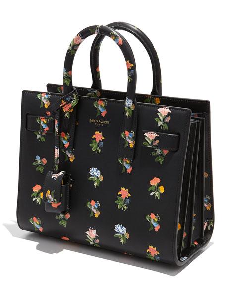 Sac De Jour Mini Grained Bonded Leather Satchel Bag, Rose