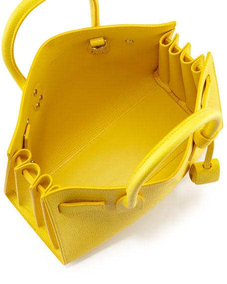 yves saint laurent yellow baby sac de jour tote
