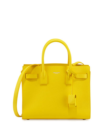 Saint Laurent Sac de Jour Baby Satchel Bag, Yellow