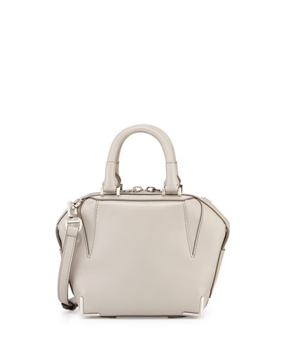 Mini Emile Prisma Skeletal Tote Bag, Oyster