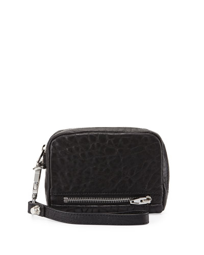 Fumo Large Leather Wallet, Black