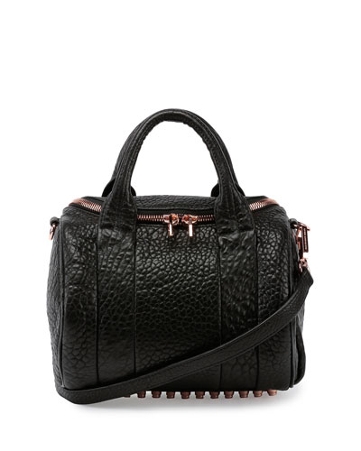 Rockie Mini Dumbo Pebbled Duffel Bag, Black