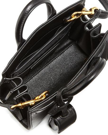 yves saint laurent logo handbags - sac de jour toy satchel bag, red
