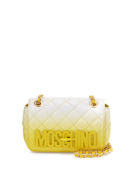 Moschino Medium Ombre Quilted Shoulder Bag, Yellow