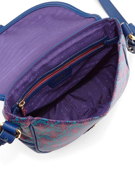 Carnaby Iphis Printed Saddle Bag, Navy
