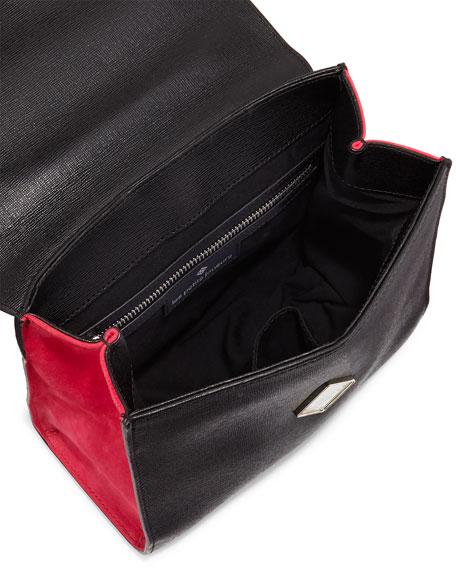 Alex Mini Eyes Frame Bag, Black/White/Fuchsia