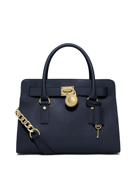 Hamilton Saffiano Satchel Bag, Navy