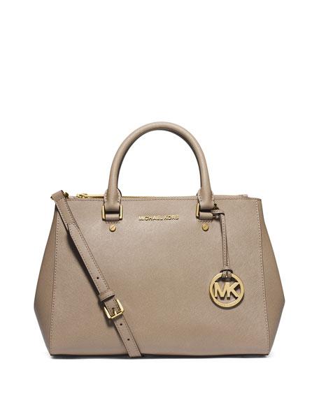 michael kors medium sutton satchel in dark dune series rh rfidbusinesscards com