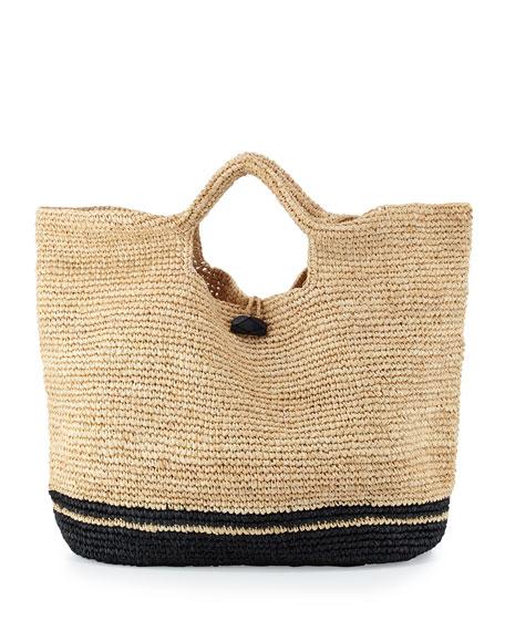 Vitamin A Large Straw Beach Bag