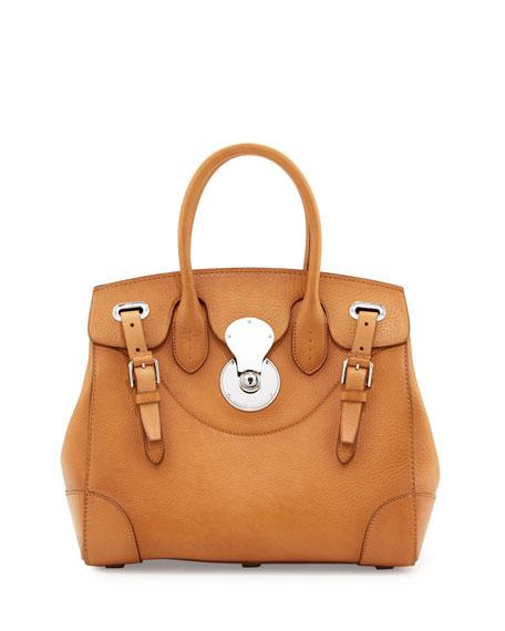 Ralph Lauren Ricky 33 Medium Leather Satchel Bag,