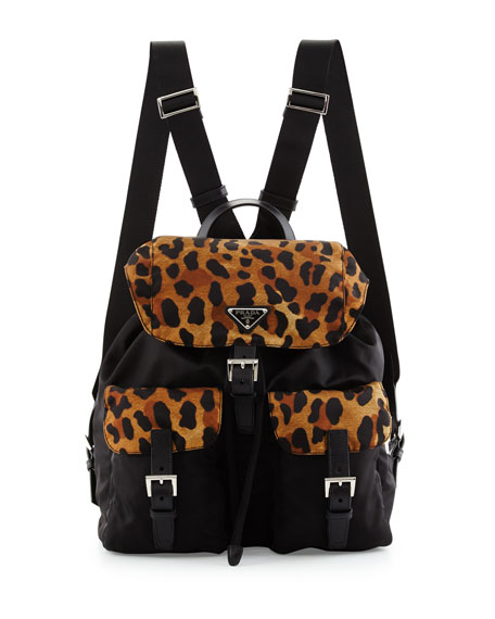 black prada handbags - Prada Tessuto Stampato Floral Backpack, Blue (Azzurro Dis Fiore)