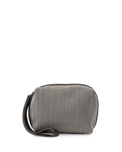 Monili Cube Wristlet Clutch Bag, Gunmetal