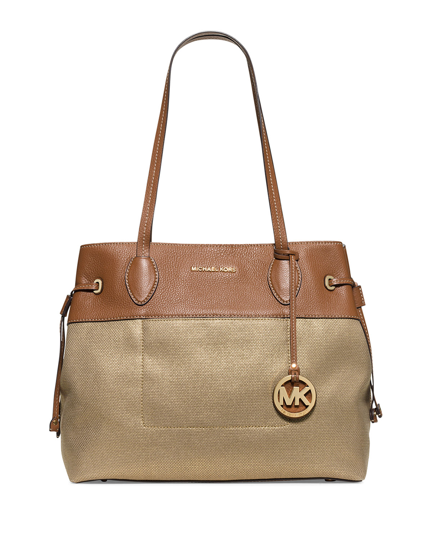 fe2bf811340a MICHAEL Michael Kors Marina Large Drawstring Tote Bag, Gold | Neiman ...