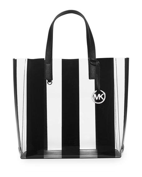 MICHAEL Michael Kors Eliza Large Striped Plastic Tote