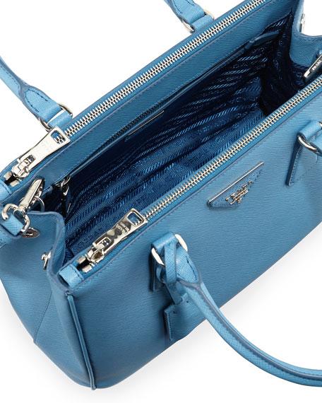 prada saffiano lux tote bag blue