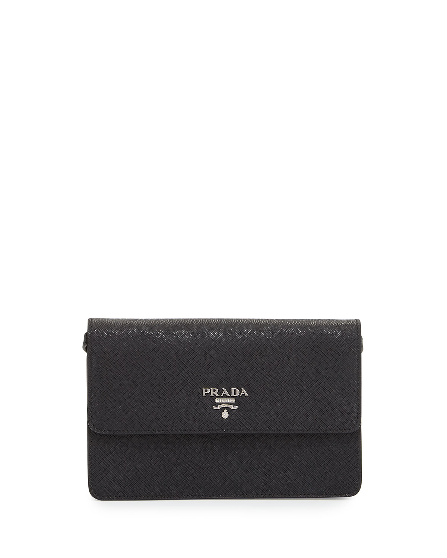 900ae0df95 Prada Saffiano Small Wallet-on-a-Strap