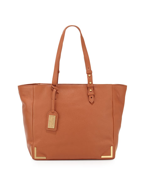 Badgley Mischka Linda Soft Pebble Leather Tote Bag,