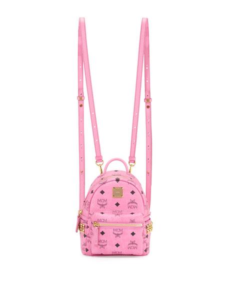 MCM Stark X-Mini Side Stud Backpack, Pink