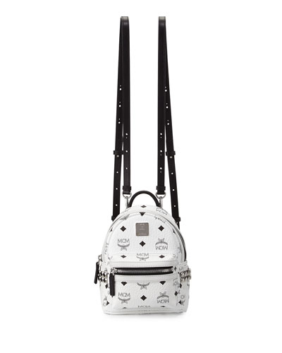 Stark Side-Stud X-Mini Convertible Backpack, White