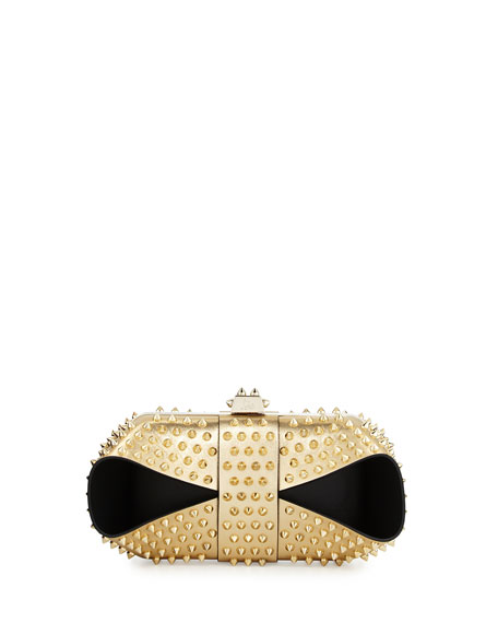 Christian Louboutin Grandotto Spike Clutch Bag, Gold/Black