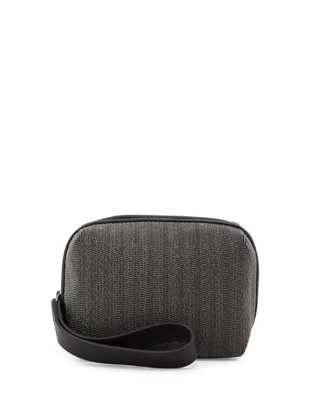 Brunello Cucinelli Monili Cube Wristlet, Black