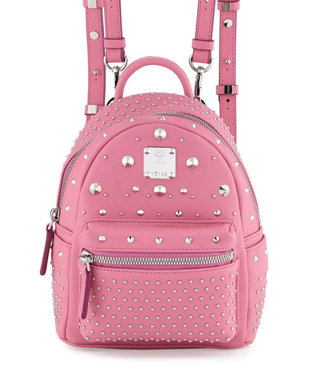 MCM Stark Special Bebe Boo Leather Backpack, Chateau