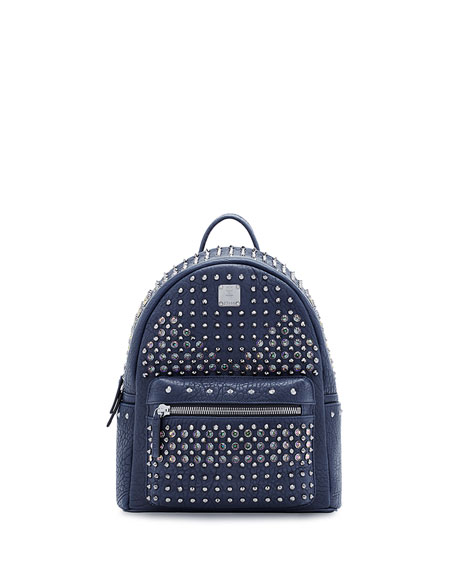 MCM Stark Special Small Backpack, Dress Blue