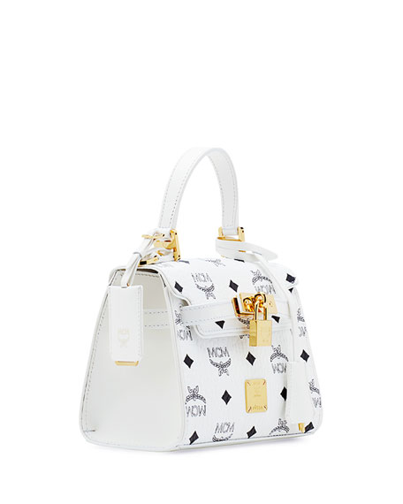 Heritage Mini Satchel Bag, White
