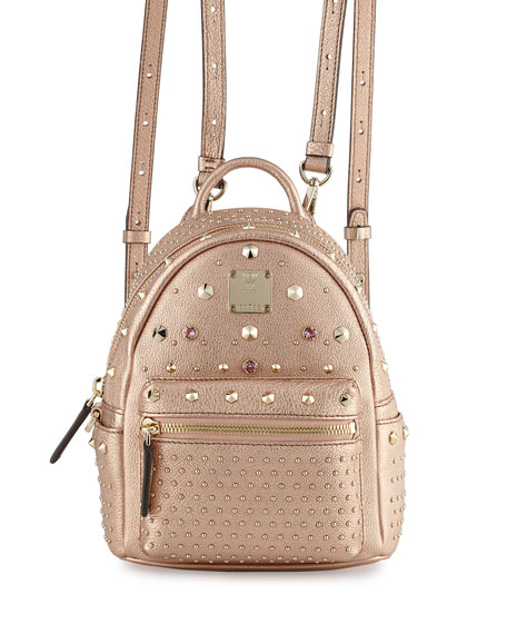 MCM Stark Special Bebe Boo Backpack, Wall Taupe