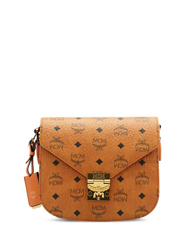 Patricia Visetos Small Shoulder Bag, Cognac