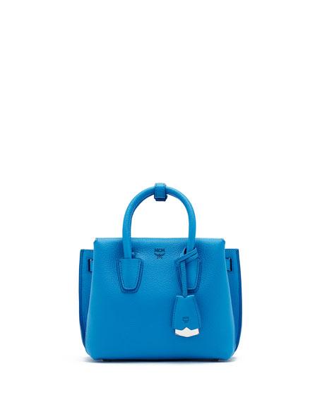 MCM Milla Mini Tote Bag, Tile Blue